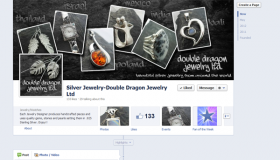 Double Dragon Jewelry Ltd Facebook Timeline Cover and Profile designed by Simply Social Media Solutions and Tasks Done Daily Virtual Assistant Services